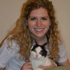 Dr. Christina Parker holding a cat