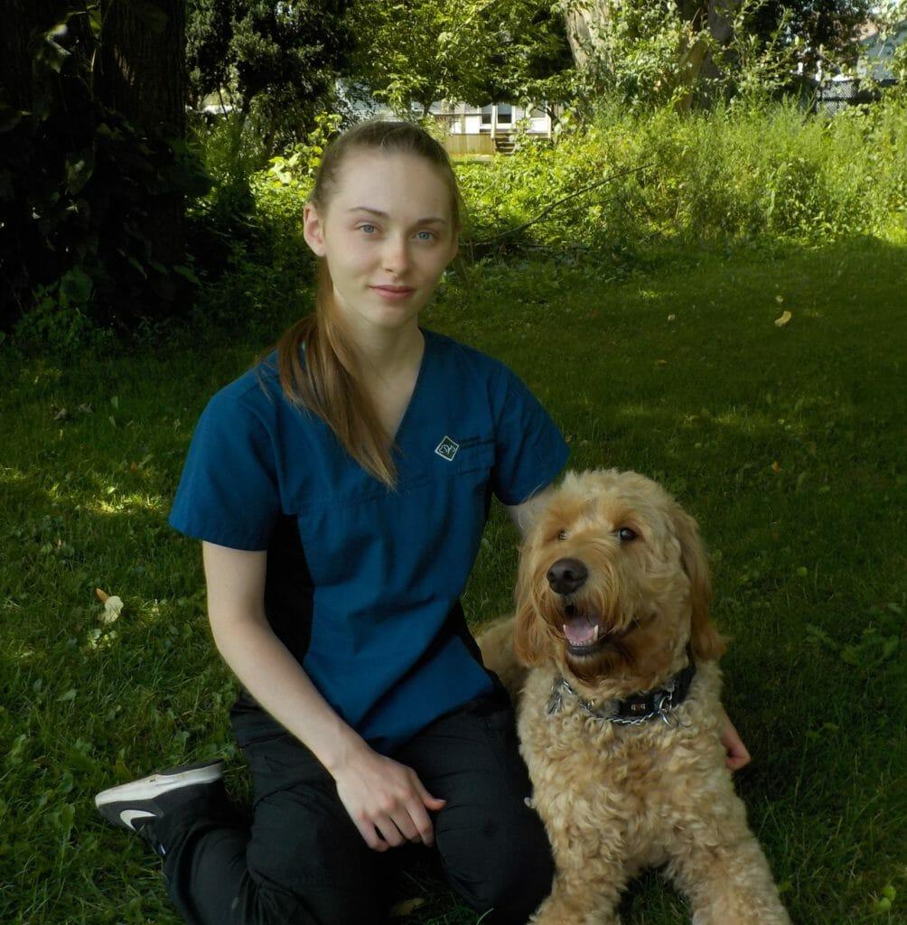Alyssa and dog